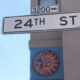 24th Street with Sun Mural