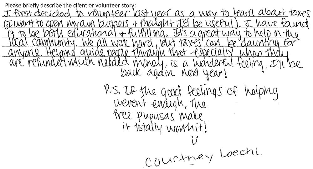 Blog-Volunteer Success Story C Loechl 021915