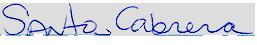 Santos Cabrera Signature