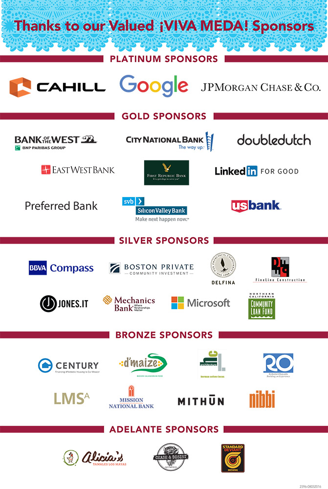 VIVA MEDA 2016 Sponsors