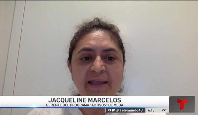 Jackie Marcelos speaks on Telemundo